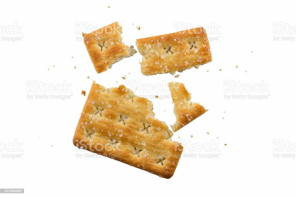 Cracking sweet cracker stock photo