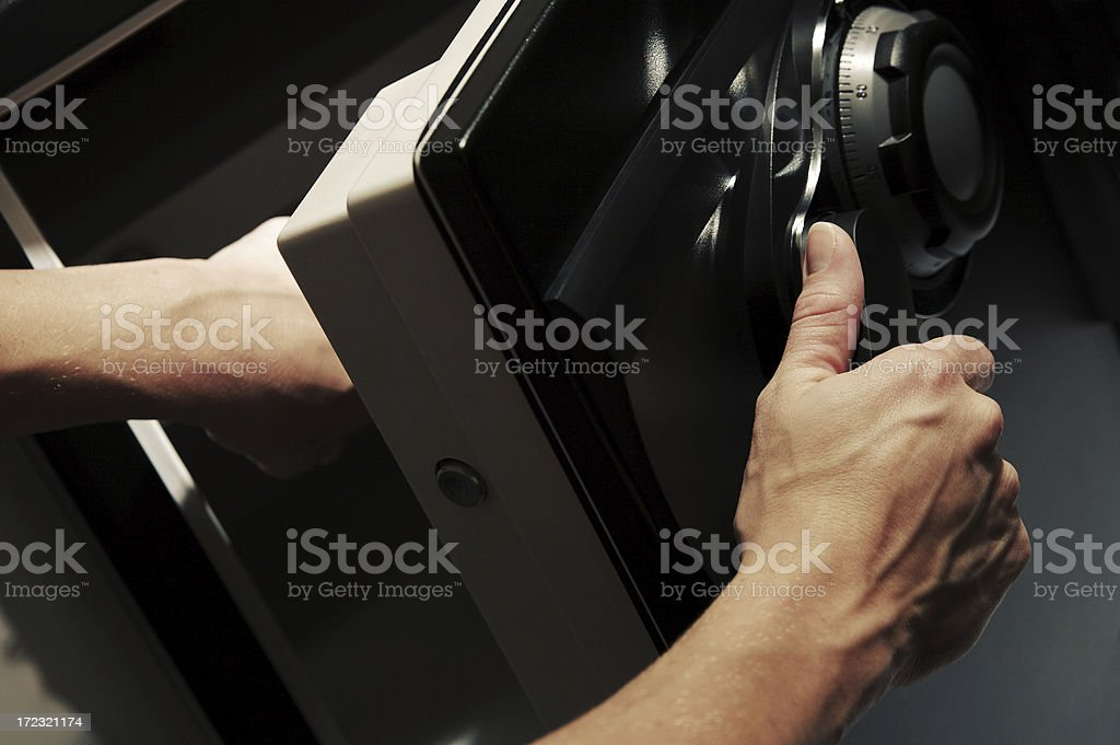 Cracking the Safe royalty-free stock photo