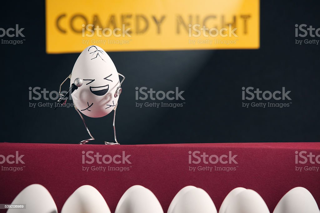 Cracking Up - Egg Comedy Night stock photo