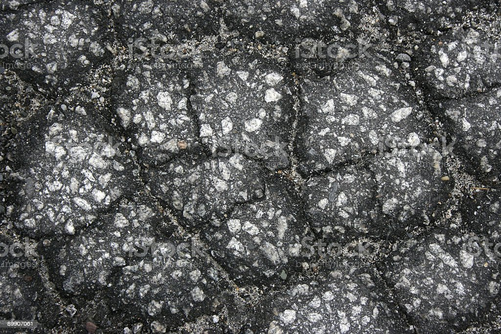 Crackled Pavement royalty-free stock photo