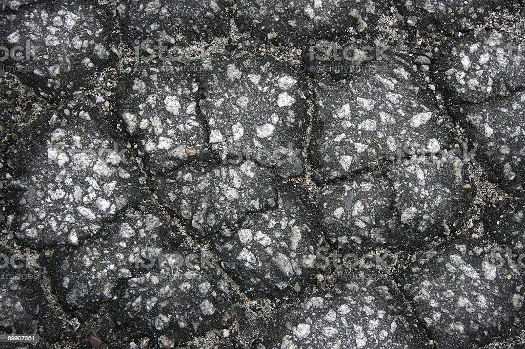 Crackled de pavimento foto de stock libre de derechos