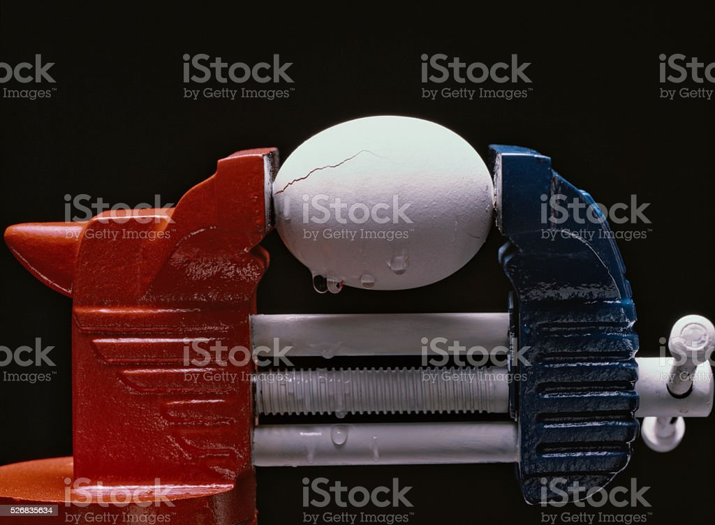 Cracks are showing stock photo