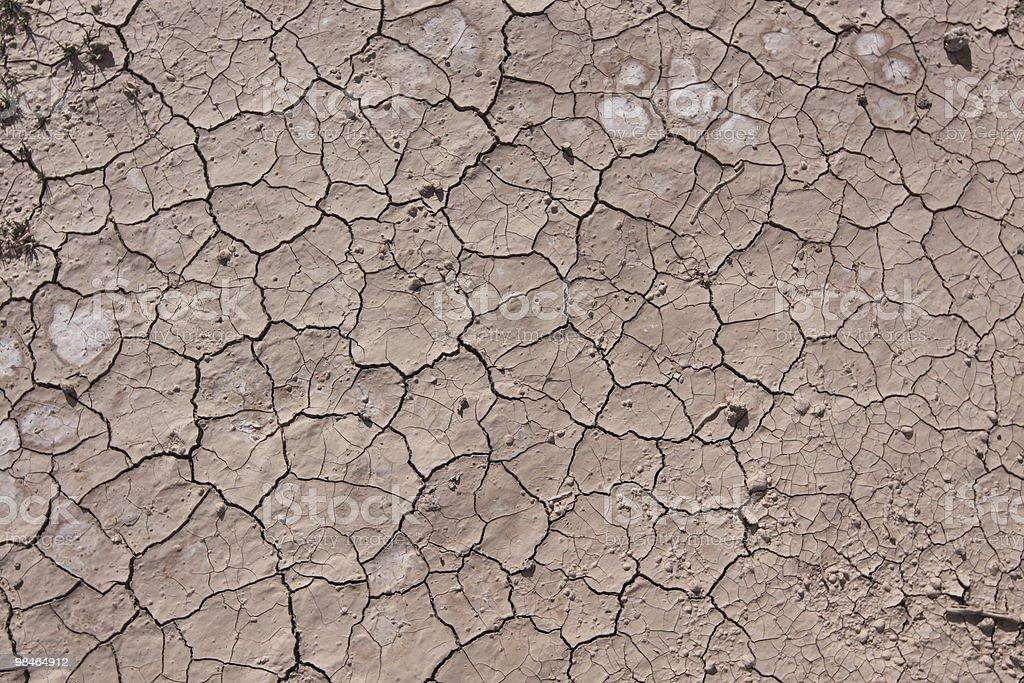 Cracks in Desert royalty-free stock photo
