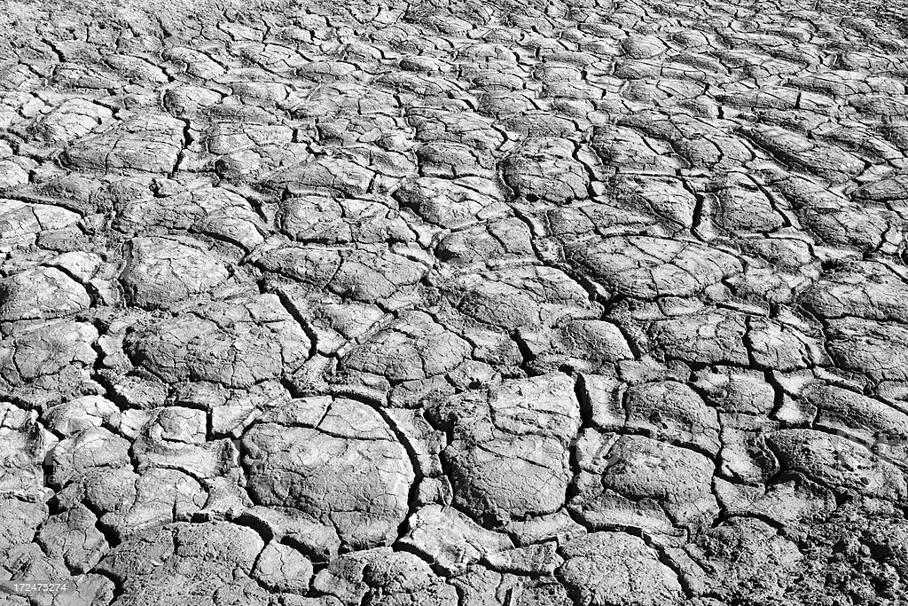 Cracks in dry earth royalty-free stock photo