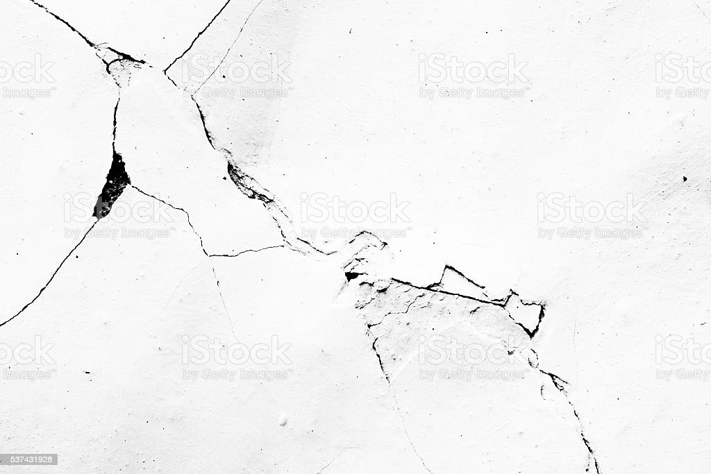 Cracks in plaster - Grunge Texture stock photo
