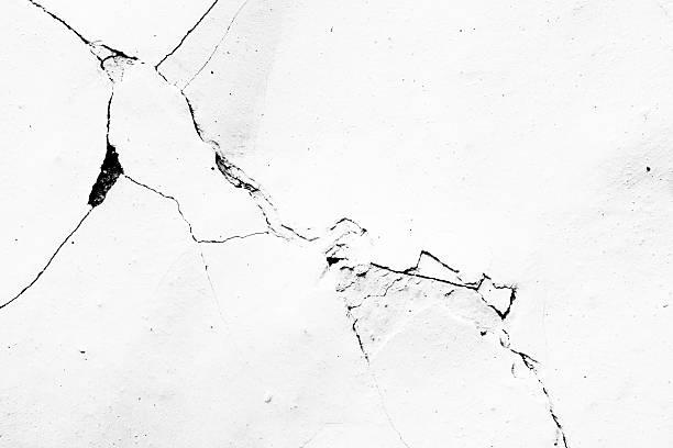 Cracks in plaster - Grunge Texture stock photo