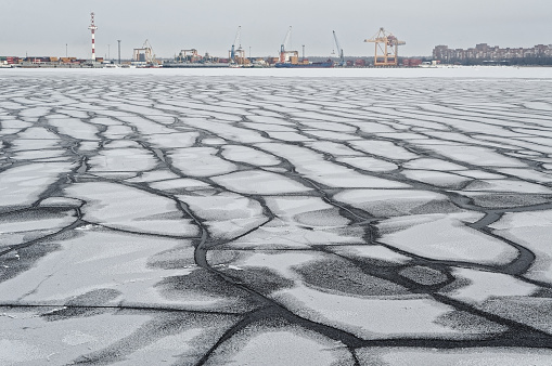 Cracks in the ice of the Gulf of Finland