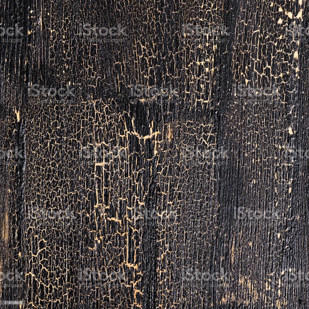 cracks seamless on black background, painted wooden surface stock photo