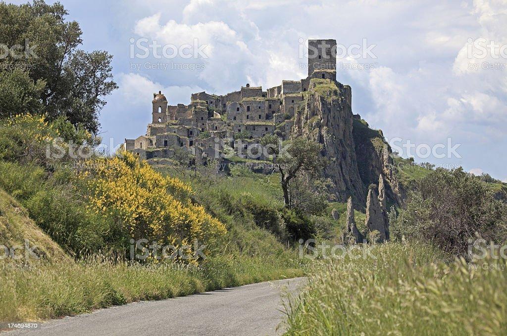 Craco - abandoned village in Basilicata Province of Matera, Italy royalty-free stock photo
