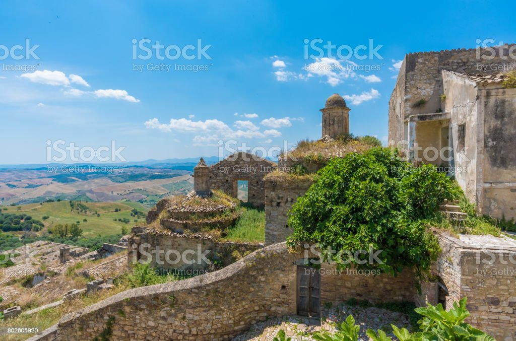 Craco (Matera, Italy) - The ghost town and landscape - foto stock