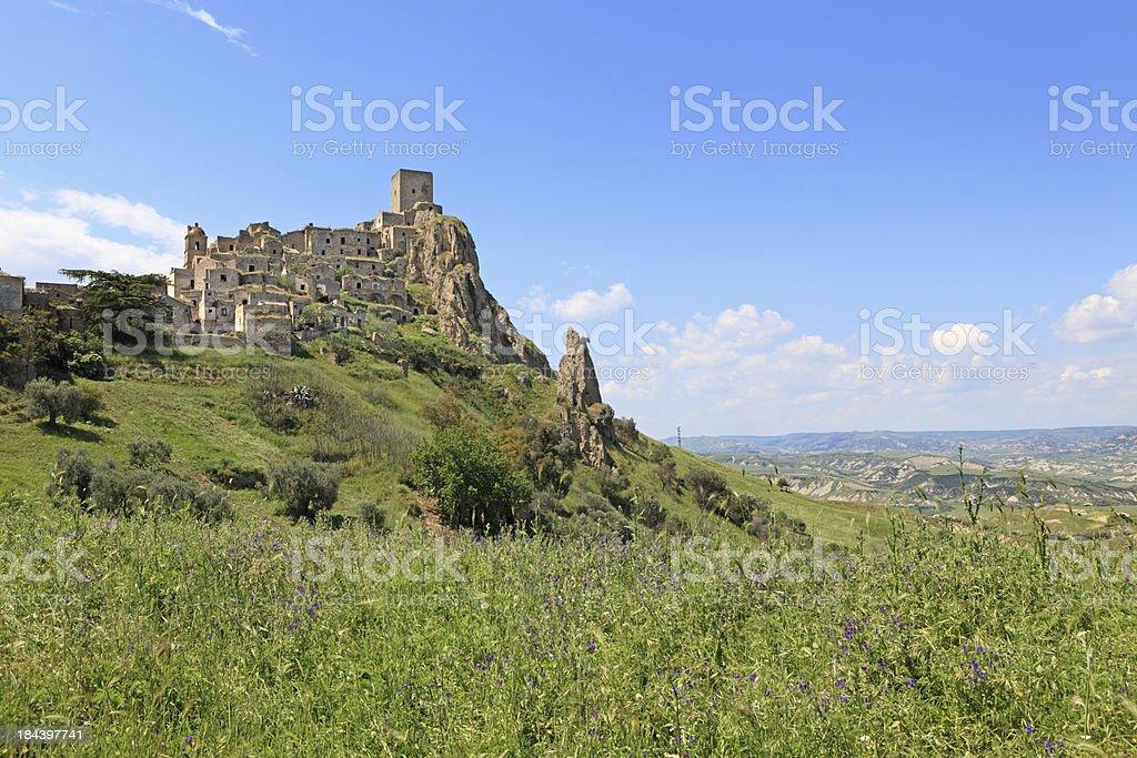 Craco disabitata villaggio in Basilicata-Provincia di Matera, Italia - foto stock
