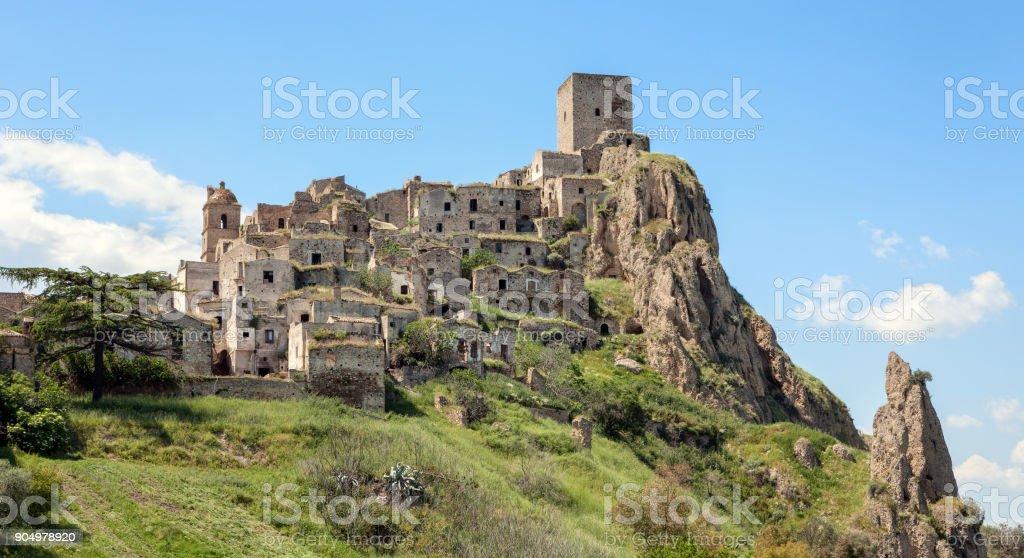 Craco, uninhabited village in Basilicata - Province of Matera, Italy - foto stock