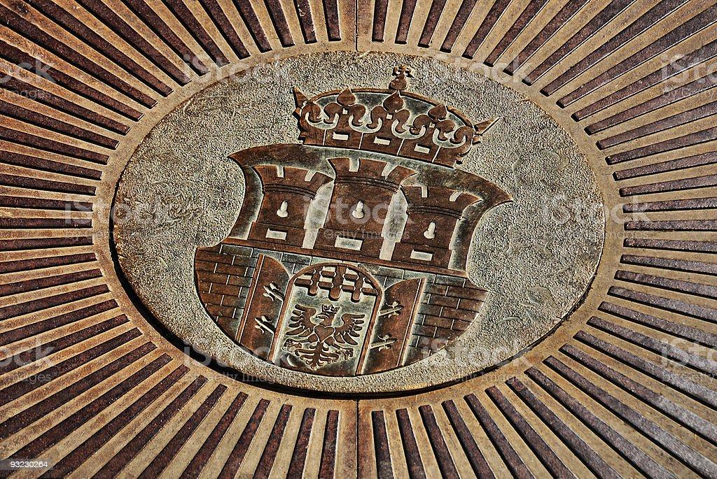 Cracow - Poland, old emblem stock photo