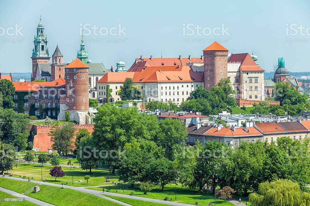 Cracow, Wawel Castle and Old Town, Poland stock photo