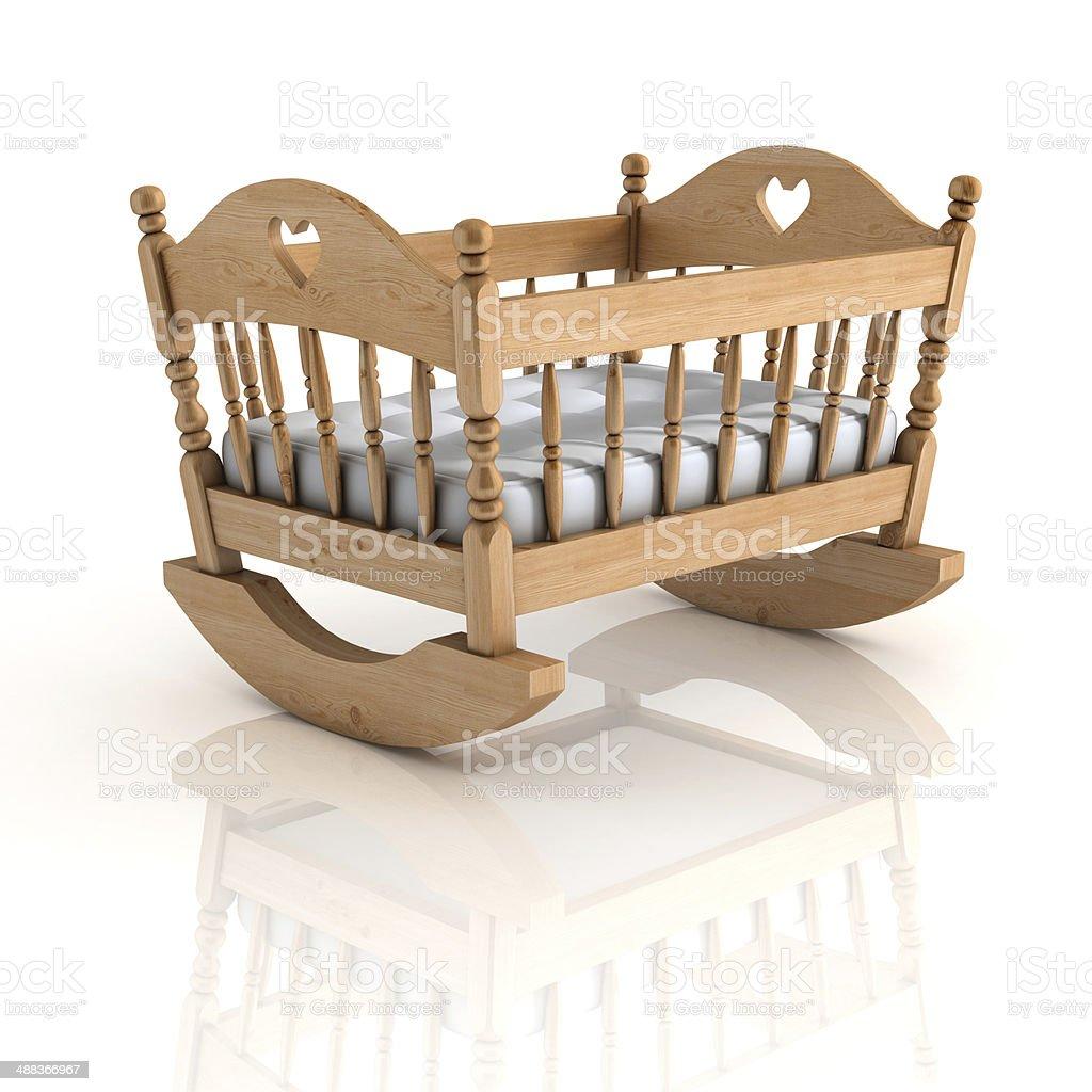 cradle 3d illustration isolated on white stock photo