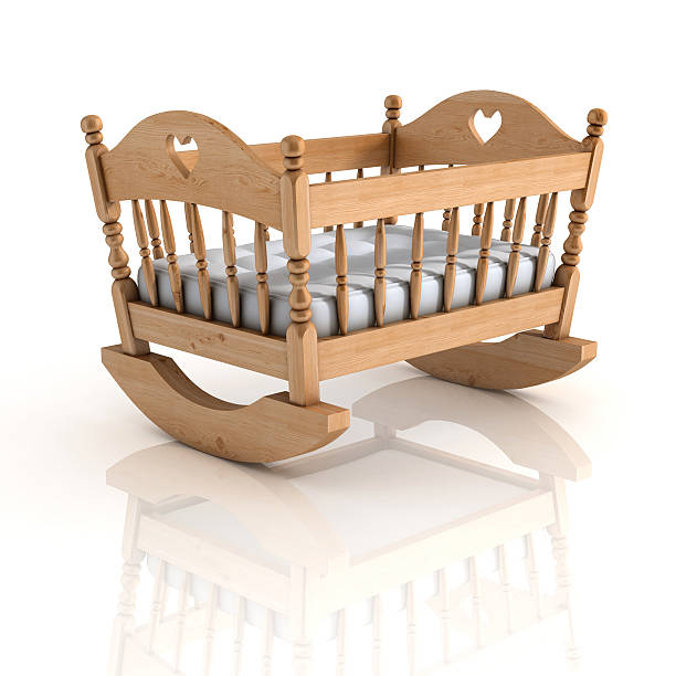 cradle 3d illustration isolated on white cradle 3d illustration isolated on white crib stock pictures, royalty-free photos & images