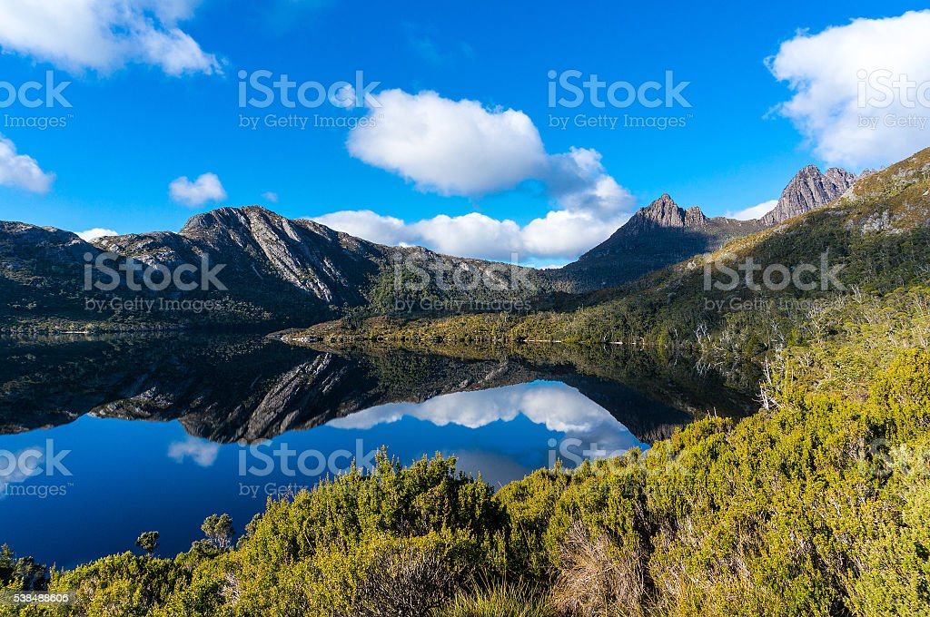 Cradle Mountain and Lake Dove stock photo