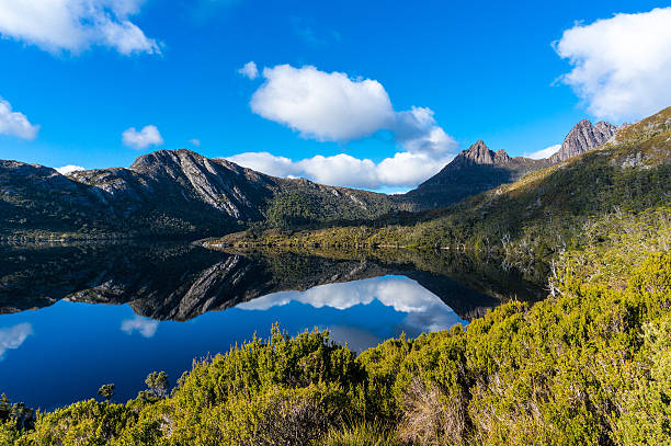 cradle mountain and lake dove - tasmania stock pictures, royalty-free photos & images