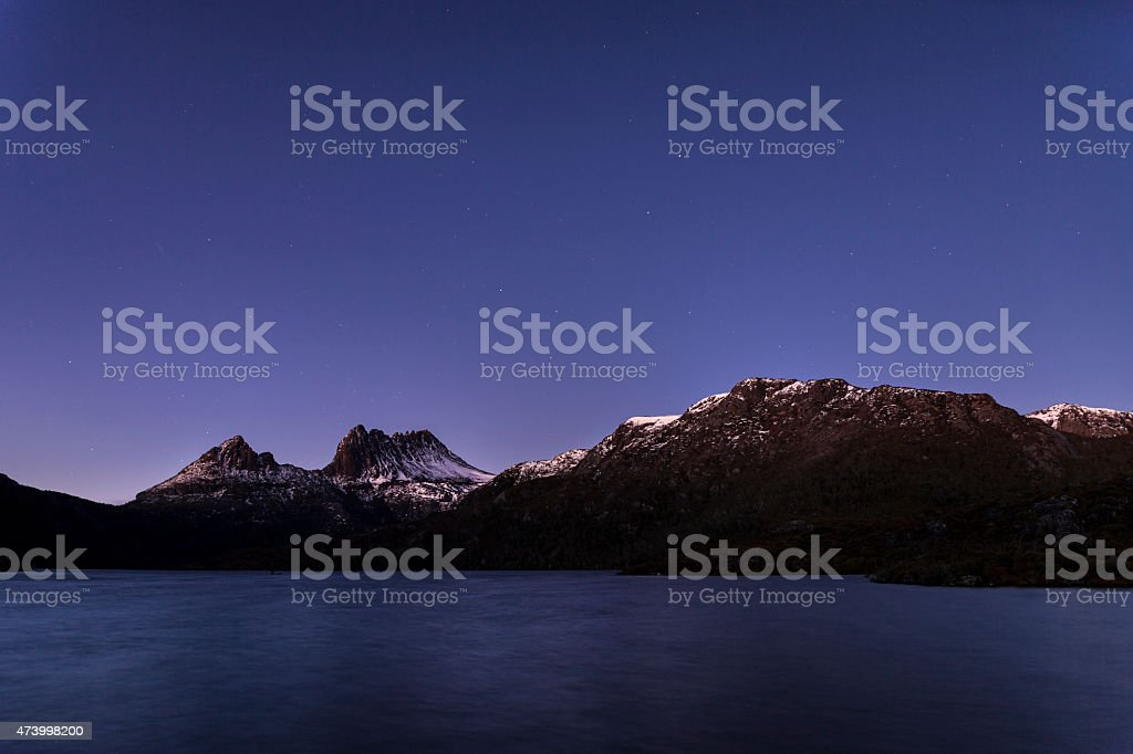 Cradle Mountain at dawn stock photo