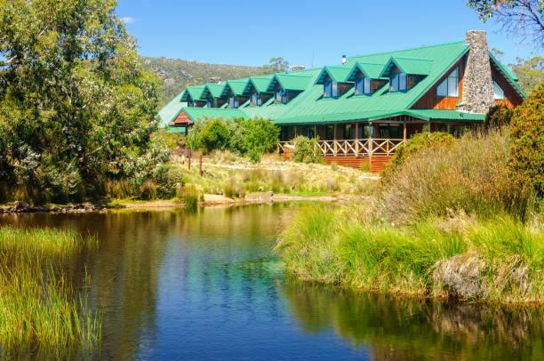 cradle mountain lodge - tasmania - cradle mountain stock photos and pictures