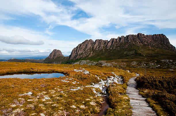 cradle mountain national park - tasmania - australia - cradle mountain stock photos and pictures