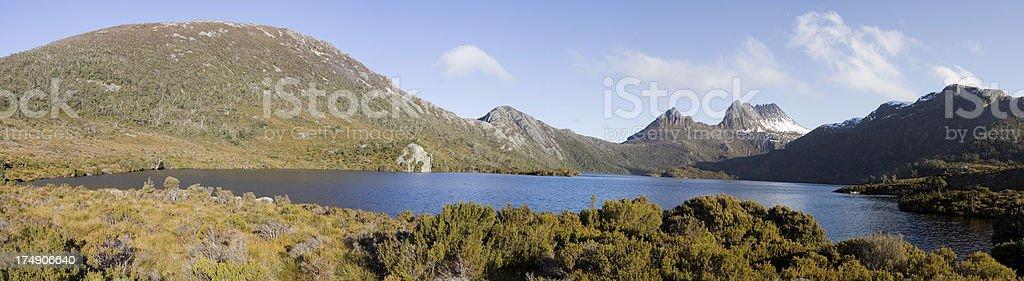 Cradle Mountain Panorama royalty-free stock photo