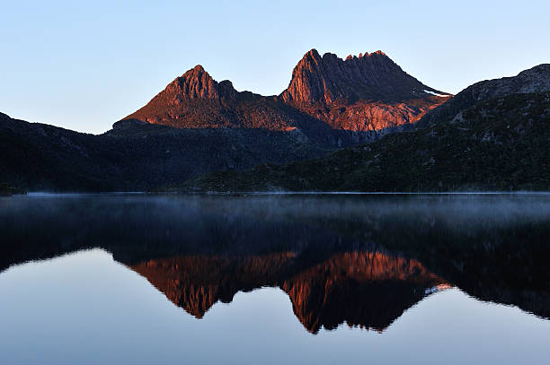 cradle mountain-lake st clair national park - cradle mountain stock photos and pictures