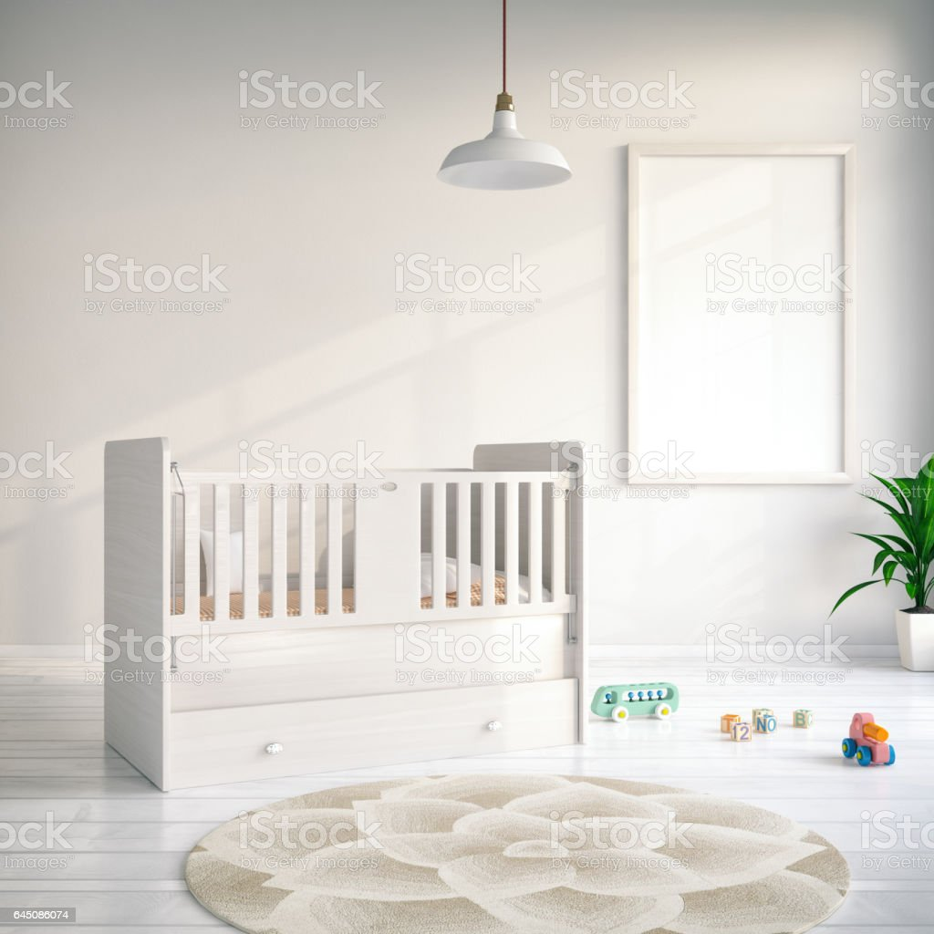 Cradle with Empty Frame stock photo