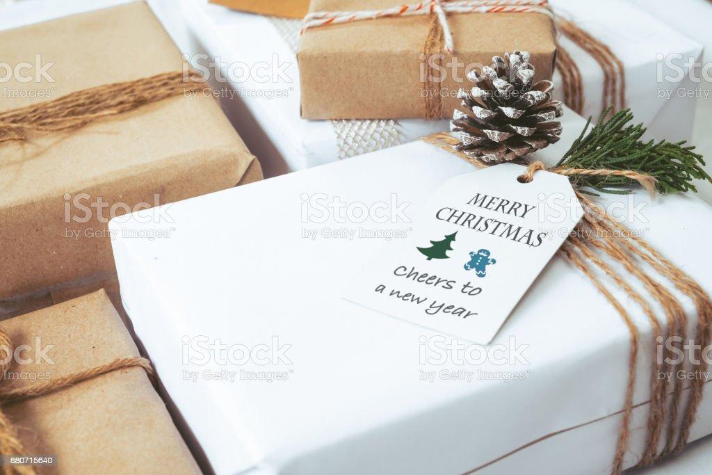 Handwerk Und Handarbeit Geschenkkartons Geschenk Von Weihnachten ...