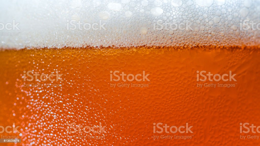 Craft Beer bubbles texture on Glasses stock photo