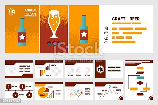 istock craft beer company annual report cover A4 template 501147202