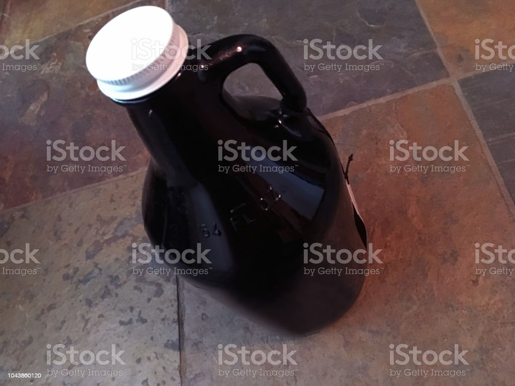 Craft Beer Growler, Rustic Home (1a2) stock photo