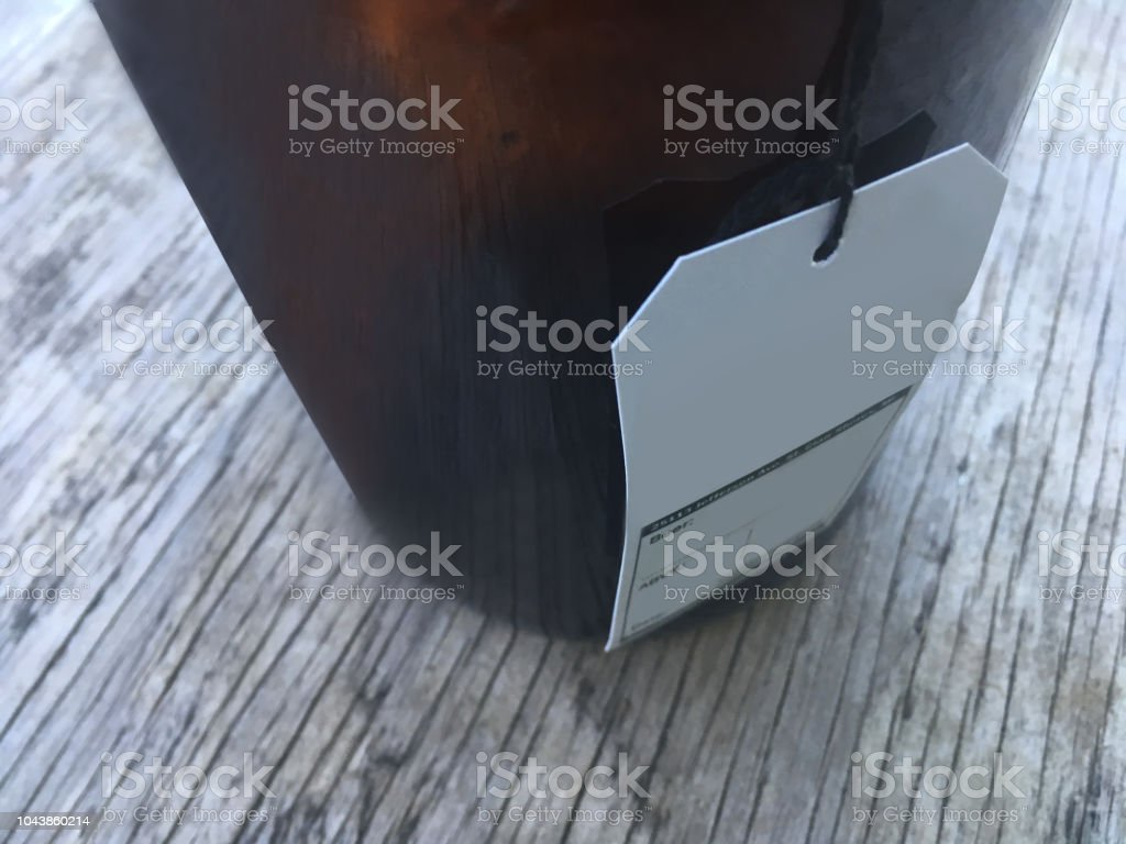 Craft Beer Growler, Rustic Home (1a4) stock photo