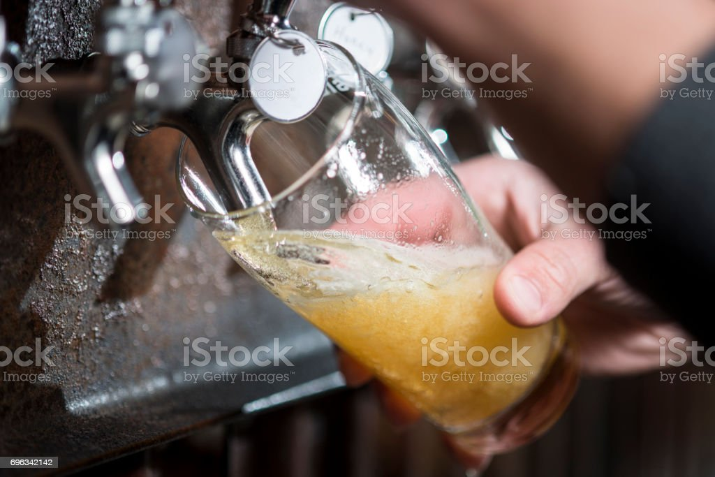 Craft Beer Pint Pour stock photo