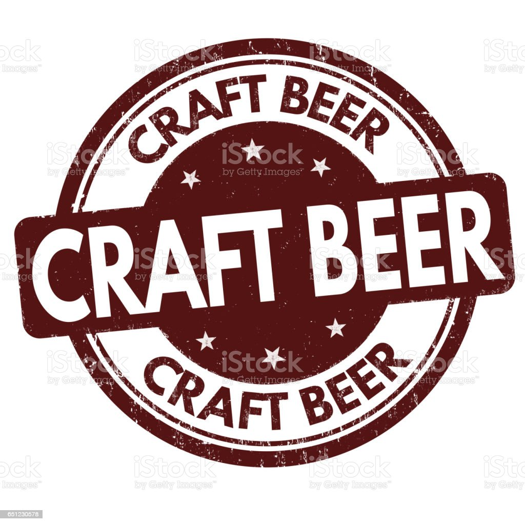 Craft Beer sign or stamp stock photo