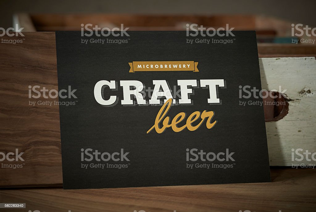Craft beer sign stock photo