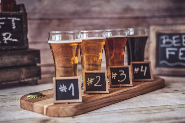 Craft Beer Tasting stock photo