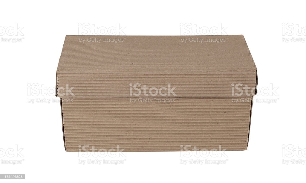 Craft Box+Clipping Path (Click for more) royalty-free stock photo