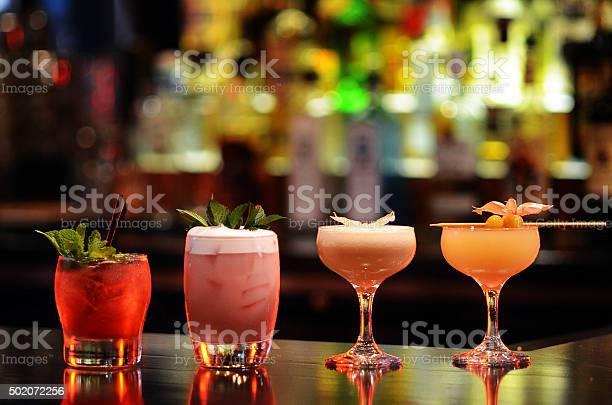 Craft cocktail assortment on well lit bar picture id502072256?b=1&k=6&m=502072256&s=612x612&h=glynvv3uik71mbetm6 aijuv8rhmqpgbdx0an3avf74=