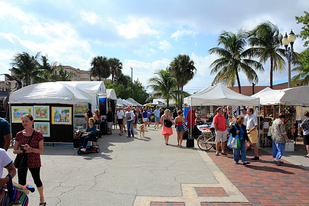 bier-festival, lauderdale-by-the sea, florida - kunsthandel stock-fotos und bilder