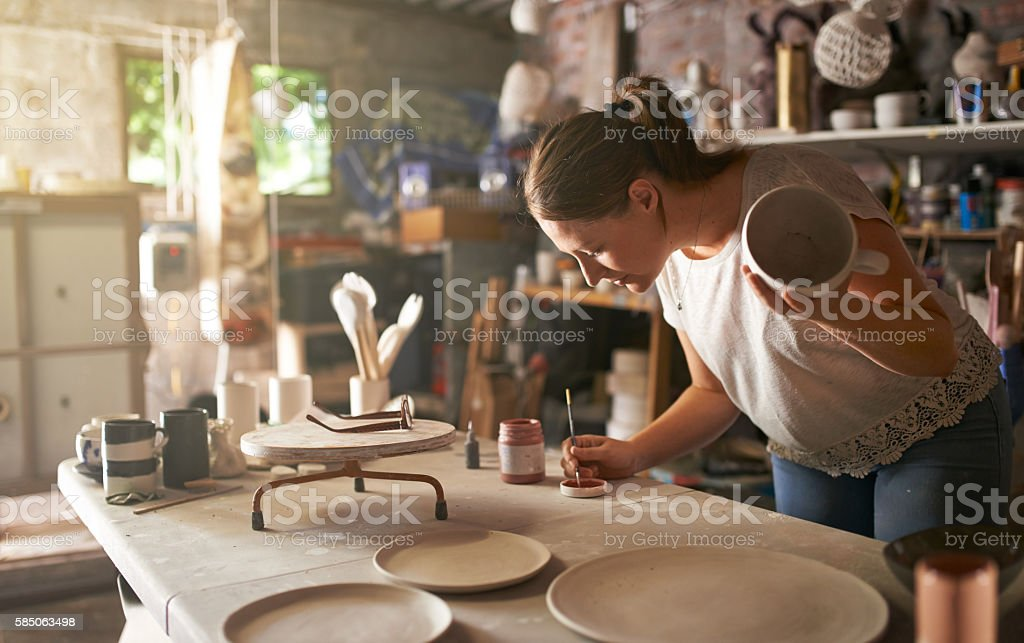 Craft like no one is watching stock photo