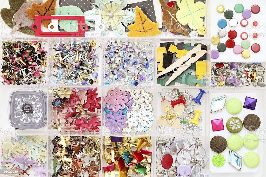 Artigianato materiali, scrapbooking foto stock royalty-free