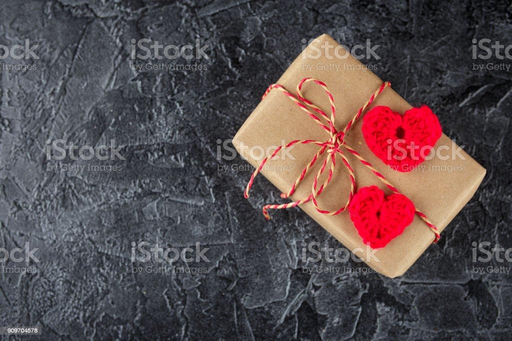 Cajas de regalo de papel craft - foto de stock