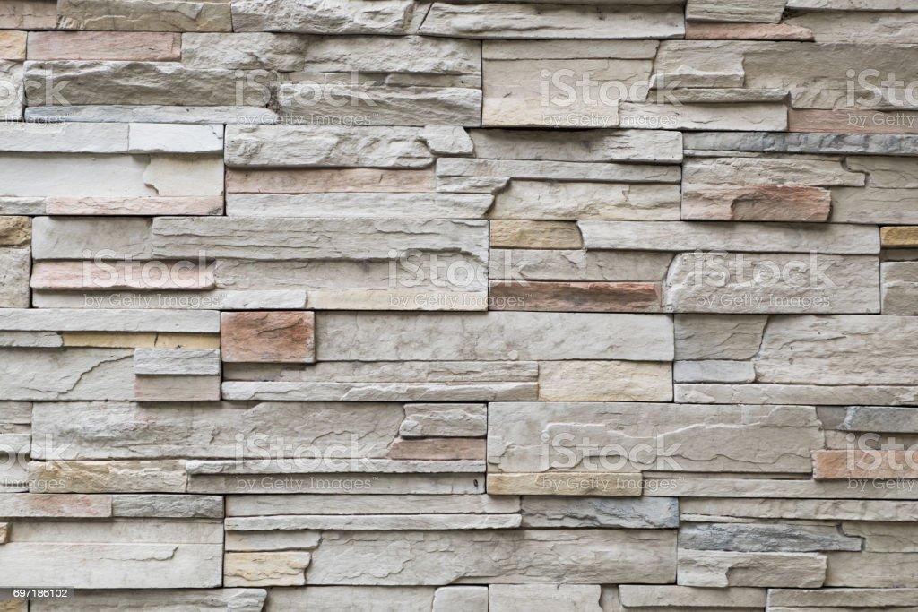 Craft stone wall texture. stock photo