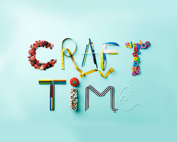 Craft Time Letters - foto de acervo