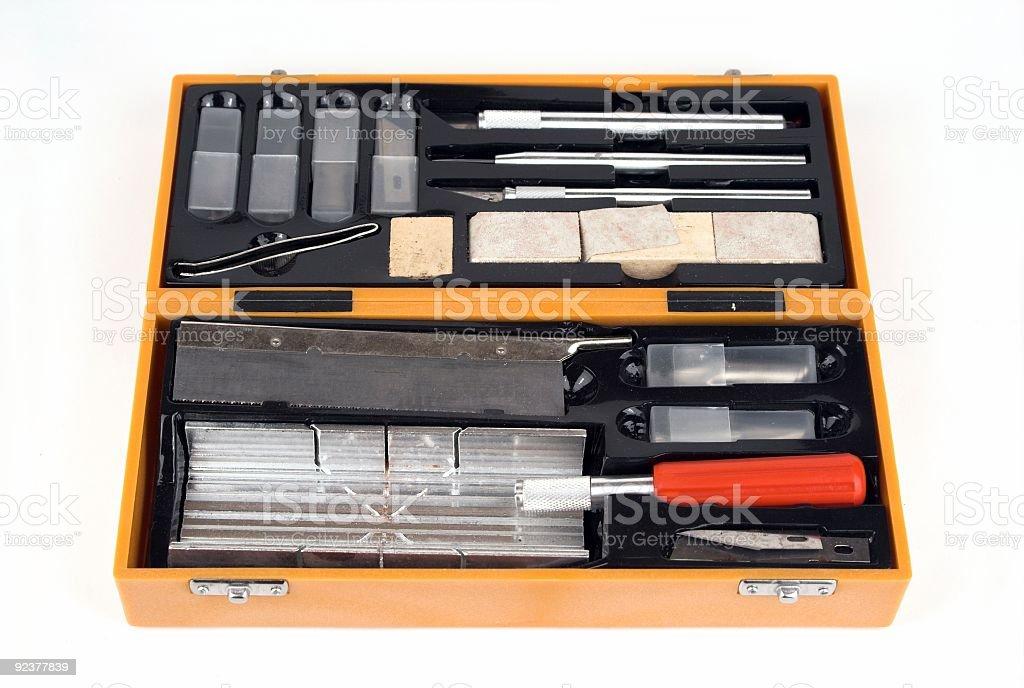 Craft Tool Kit royalty-free stock photo