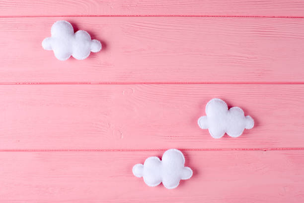 Craft white clouds with frame copyspace on pink wooden background picture id869302818?b=1&k=6&m=869302818&s=612x612&w=0&h=kvfaxpmc2izihh29dscl 97jygiu svrppb8fy3eaho=