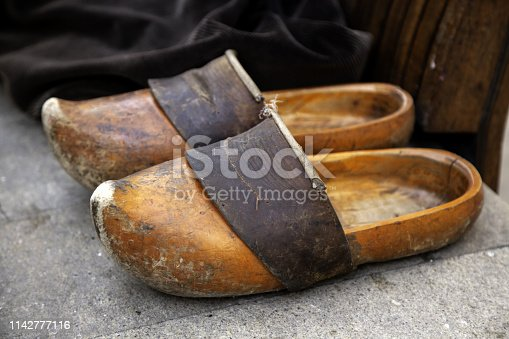 Craft wooden clogs, shoes and fashion, objects