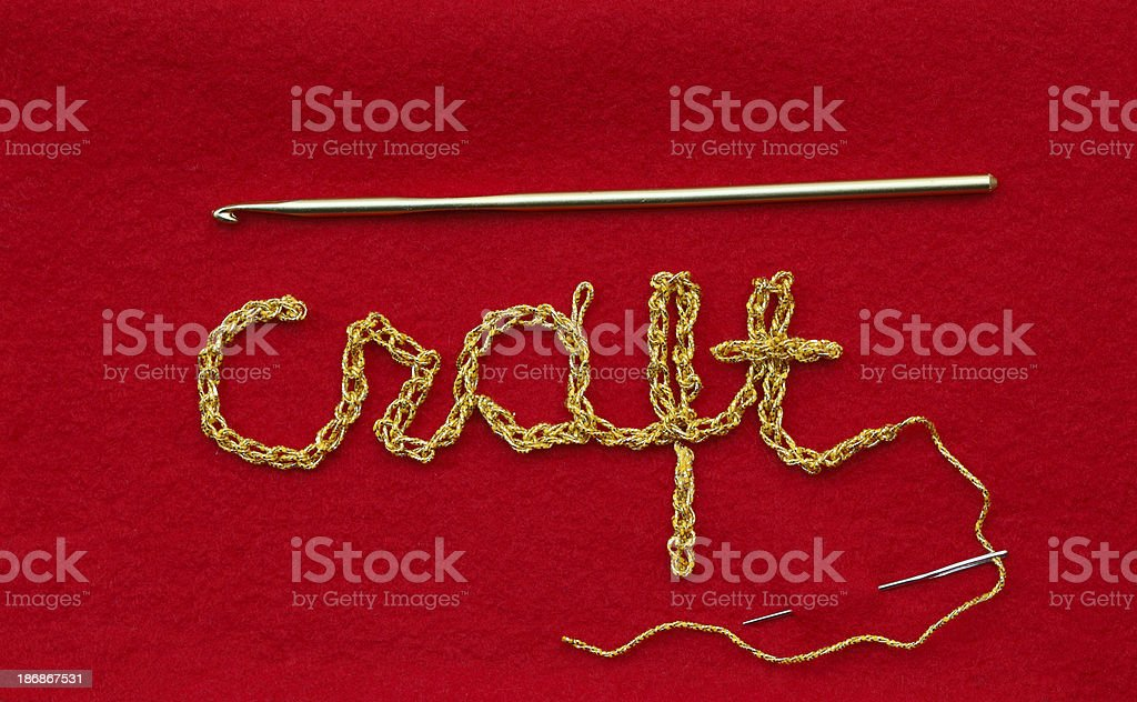 Craft Written with Thread royalty-free stock photo