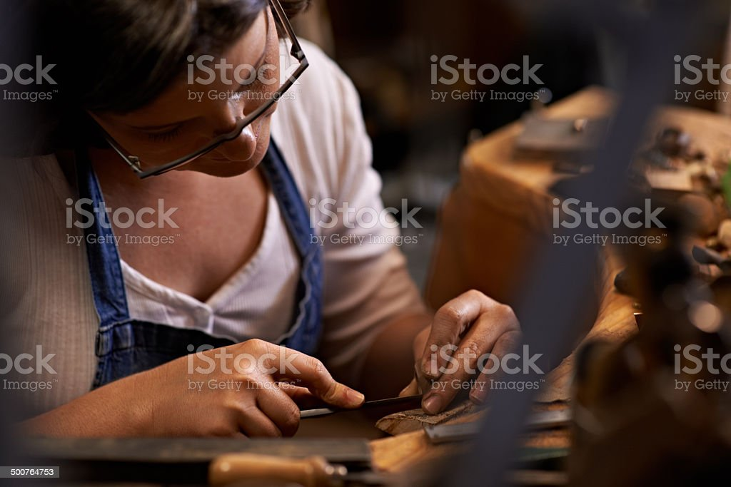 Crafted with care stock photo